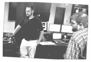 Zack and Matt work on the strategy for an upcoming client project