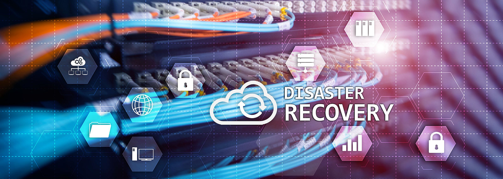 Disaster Recovery Plan for your corporation. Cyber Security concept 2020.