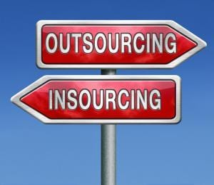 outsourcing or insourcing in house solution or external expert o