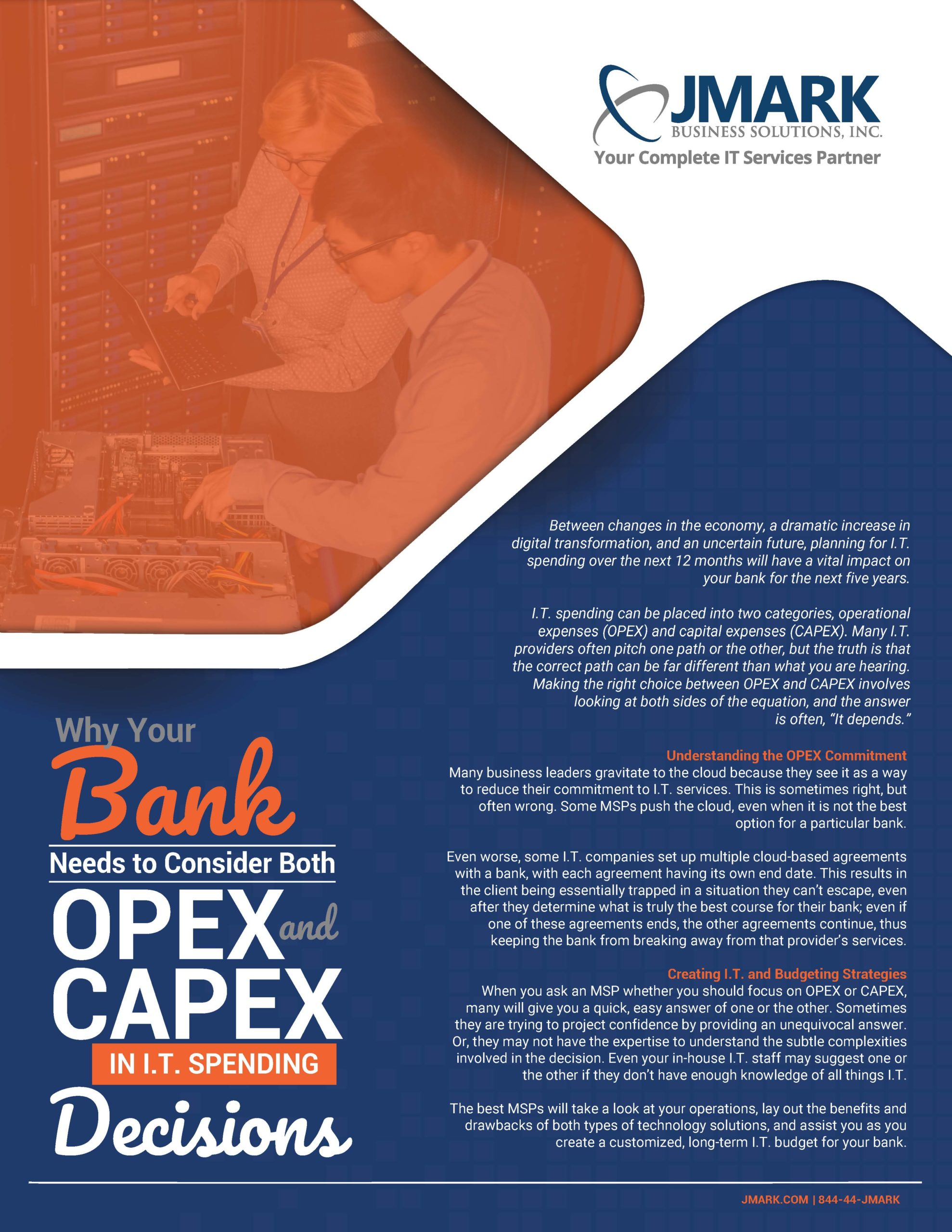 Why Your Bank Needs to Consider Both OPEX and CAPEX in I.T. Spending Decisions