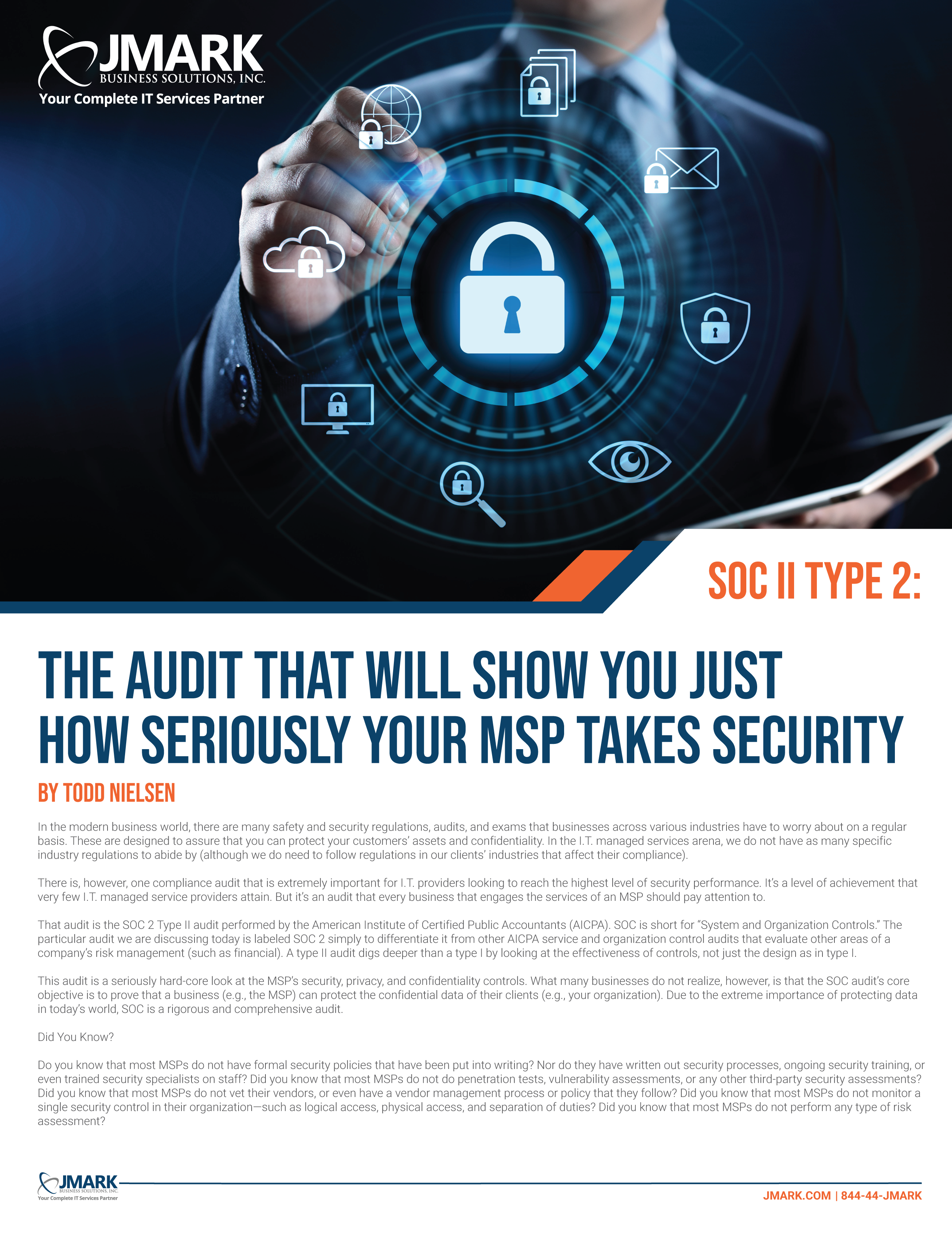 SOC II Type 2: The Audit That Will Show You Just How Seriously Your MSP Takes Security